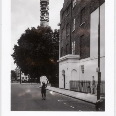 The White shirts of an art dealer (Polaroid) London S4_002 S4_002 by BETHANY MURRAY