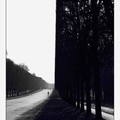 Walking Man Versailles France From the _Labyrinth_ series-by-ERIC KLEMM