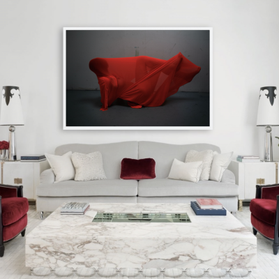 UNTITLED (MICHELLE'S STUDIO, RED STRETCH) by POLLY PENROSE