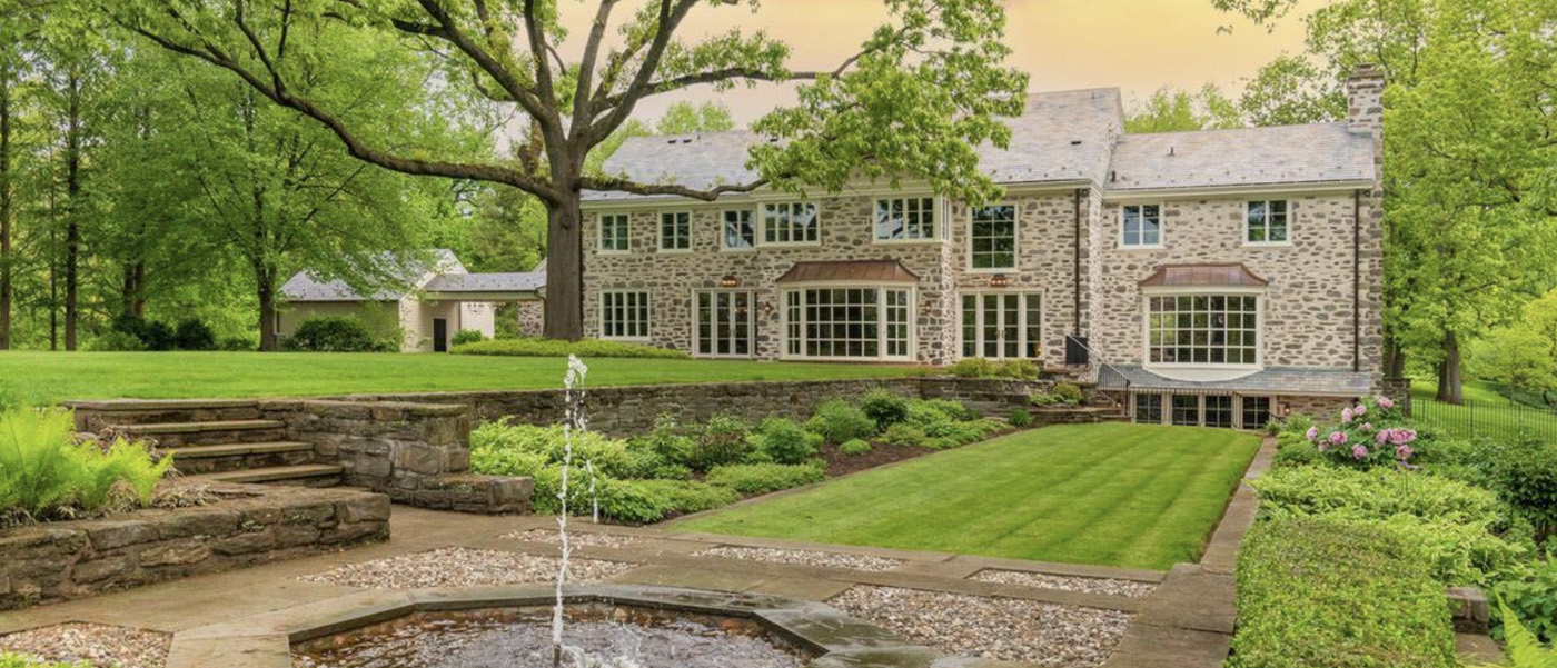 Chestnut Hill Colonial Revival after    at