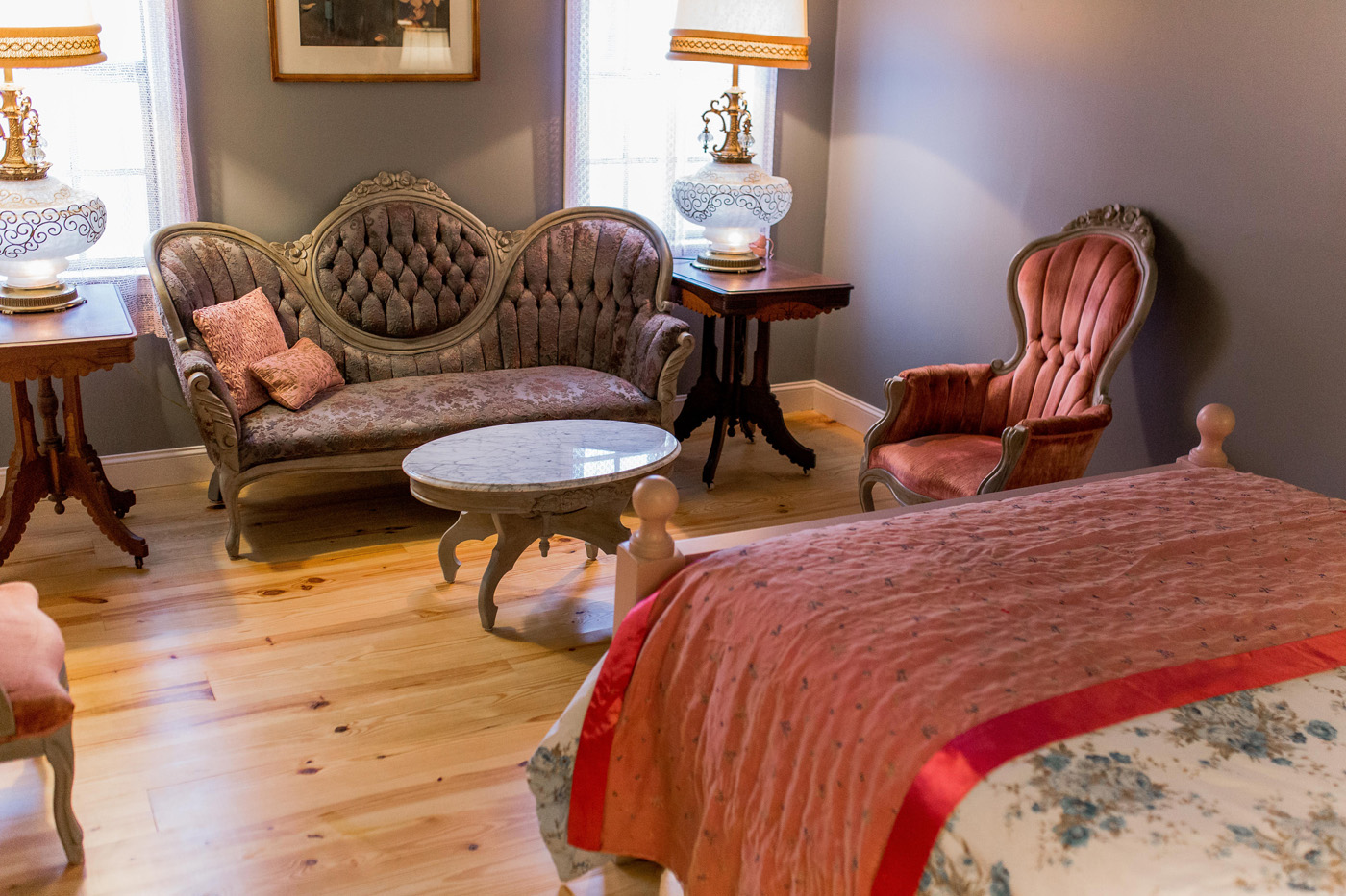 The Lydia Room at The Victoria House Bed & Breakfast in Riceville, Tennessee